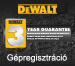 DeWALT Gépregisztráció