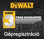DeWALT Gépregisztráció
