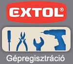 EXTOL Gépregisztráció