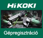 HiKOKI Gépregisztráció