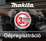 Makita Gépregisztráció