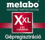 Metabo Gépregisztráció