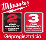 Milwaukee Gépregisztráció
