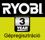 Ryobi Gépregisztráció